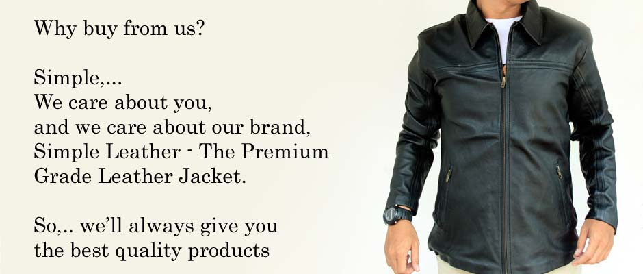 Jaket Kulit Casual Premium Simple Leather